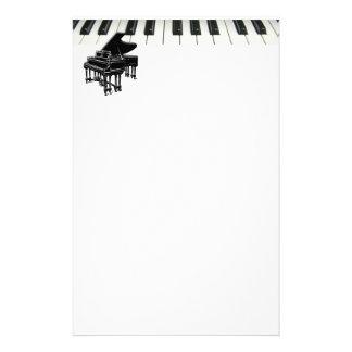 Grand Piano Keyboard Custom Stationery