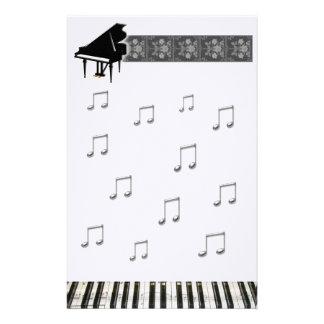 Grand Piano Keyboard Stationery Design