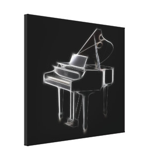 Grand Piano Musical Classical Instrument Stretched Canvas Print