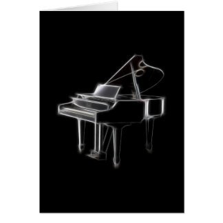 Grand Piano Musical Classical Instrument Greeting Card