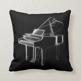 Grand Piano Musical Classical Instrument Cushion