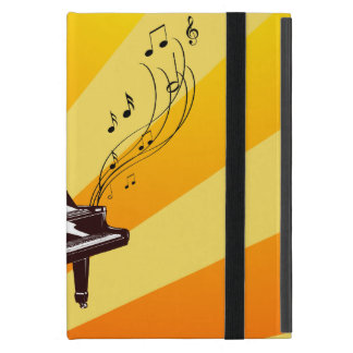 Grand Piano Notes Yellow and Gold iPad Mini Case