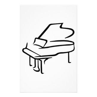 Grand Piano Personalized Stationery