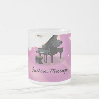 Grand Piano - Pink Frost Frosted Glass Coffee Mug