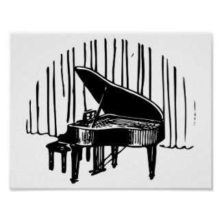 Grand piano poster on 11 X 8.5 matte paper