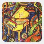 Grand Piano Square Stickers