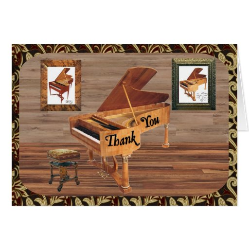 Grand Piano Thank You Greeting Card