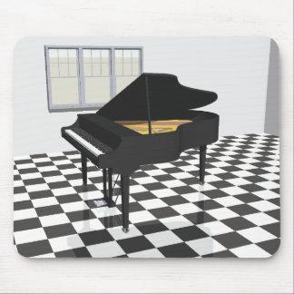 Grand Piano & Tile Floor: 3D Model: Mouse Mat
