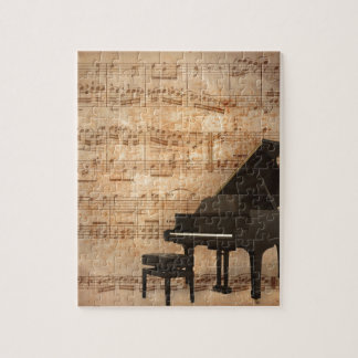 Grand Piano with Music Notes Puzzles