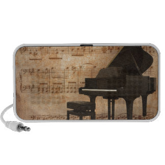 Grand Piano with Music Notes iPhone Speaker
