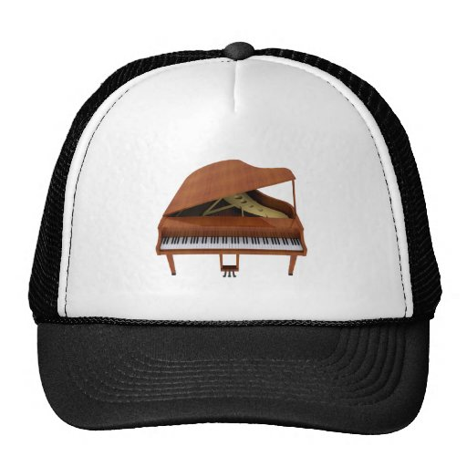 Grand Piano: Wood Finish: 3D Model: Trucker Hats