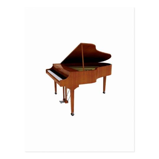Grand Piano: Wood Finish: 3D Model: Postcard