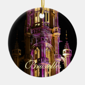 Grand Place at night Christmas Ornament