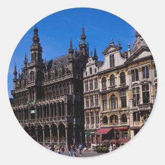 Grand Place, Brussels, Belgium Classic Round Sticker