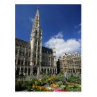 grand place, brussels belgium postcard