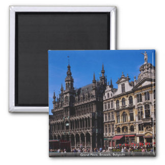 Grand Place, Brussels, Belgium Square Magnet