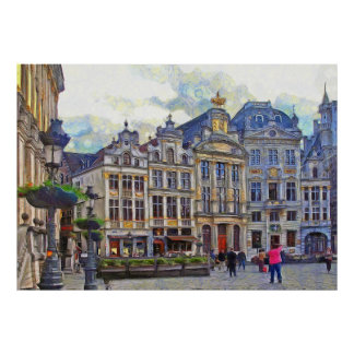 Grand Place in Brussels. Poster