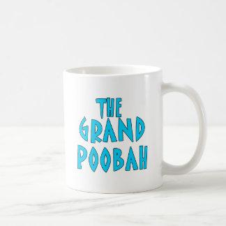 Grand Poobah Blue Font Products Basic White Mug