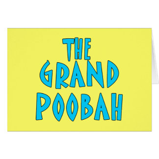 Grand Poobah Blue Font Products Greeting Cards