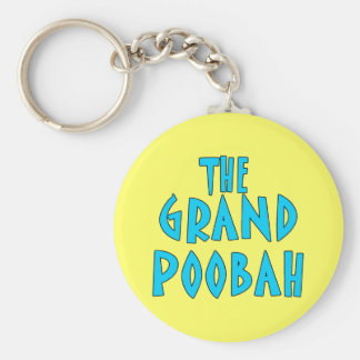 Grand Poobah Blue Font Products Key Chain
