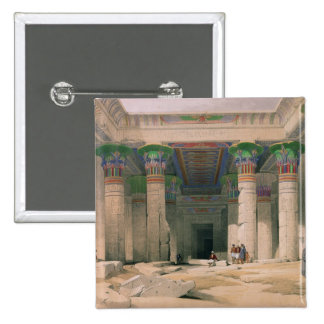 Grand Portico of the Temple of Philae, Nubia 15 Cm Square Badge