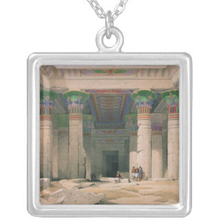 Grand Portico of the Temple of Philae, Nubia Silver Plated Necklace