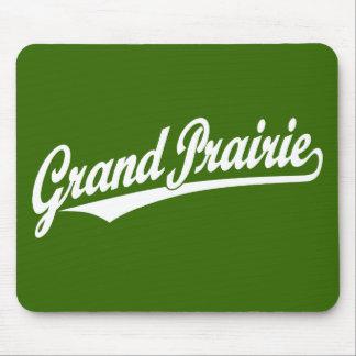 Grand Prairie script logo in white Mouse Pad
