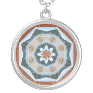 Grand Prismatic Spring Companion Silver Plated Necklace
