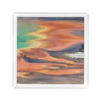 Grand Prismatic Spring Runoff Acrylic Tray