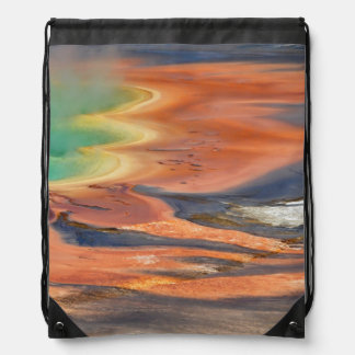 Grand Prismatic Spring Runoff Drawstring Bag