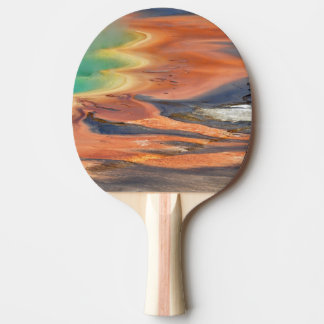 Grand Prismatic Spring Runoff Ping Pong Paddle