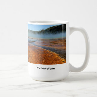 Grand Prismatic Spring, Yellowstone National Park Basic White Mug