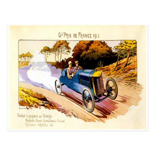 Grand Prix De France 1913 ~ Vintage Advertisement Postcards
