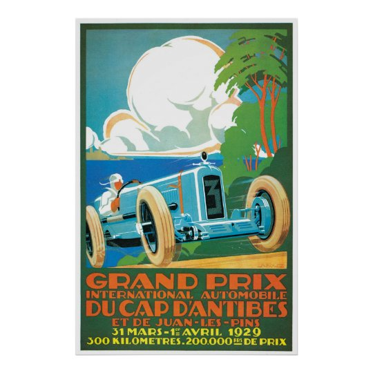 Grand Prix Du Cap Dantibes Poster