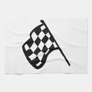 Grand Prix Flag Hand Towels