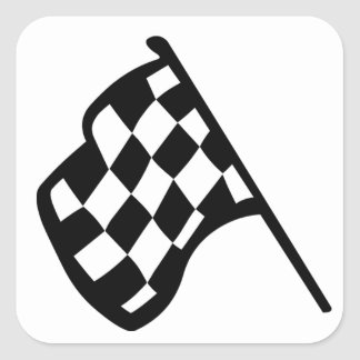 Grand Prix Flag Square Sticker