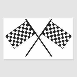 Grand Prix Flags Rectangular Sticker