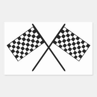 Grand Prix Flags Rectangular Sticker