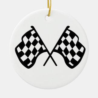 Grand Prix Flags Round Ceramic Decoration