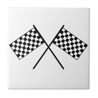 Grand Prix Flags Small Square Tile