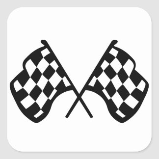 Grand Prix Flags Square Sticker