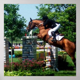 Grand Prix Horse  Poster