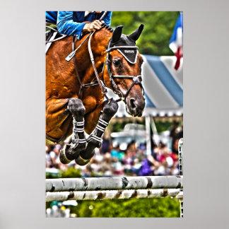 Grand Prix Jumper-Equestrian Poster