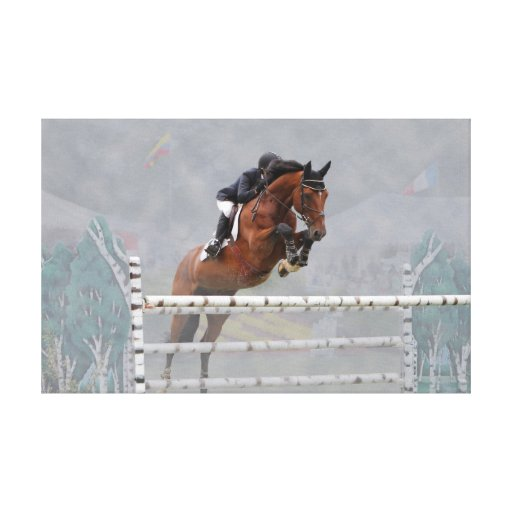 Grand Prix Jumper-Fog-2 Wrapped Canvas Gallery Wrapped Canvas
