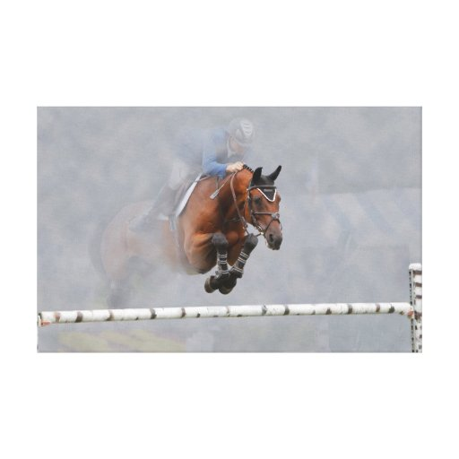 Grand Prix Jumper-Fog Wrapped Canvas Gallery Wrap Canvas