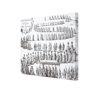 Grand Procession the Sovereign and the Knights Stretched Canvas Prints