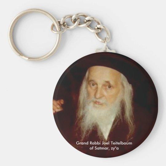 Grand Rabbi Joel Teitelbaum of Satmar Basic Round Button Key Ring