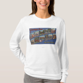 Grand Rapids, Michigan - Large Letter Scenes 2 T-Shirt