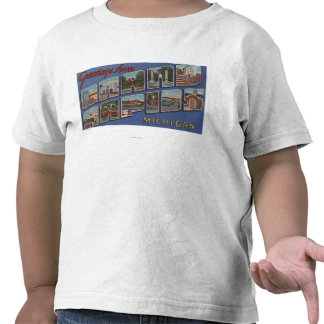 Grand Rapids, Michigan - Large Letter Scenes 2 Tshirt