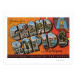 Grand Rapids, Michigan - Large Letter Scenes Post Card